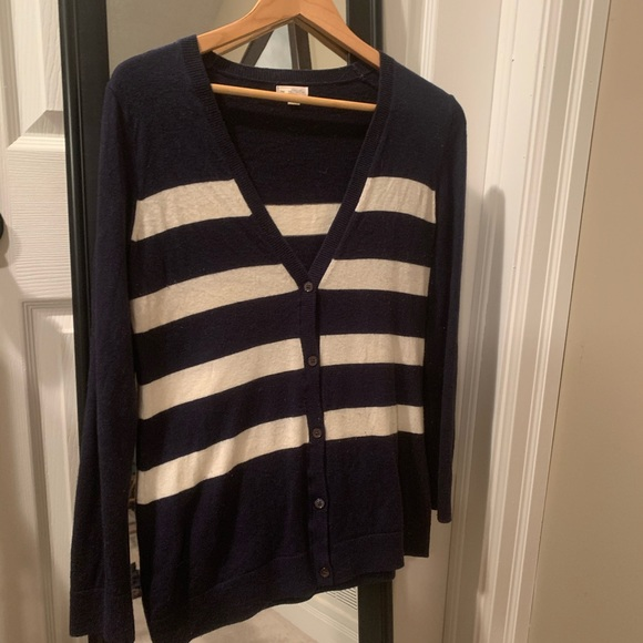 Blue and white striped Gap Sweater